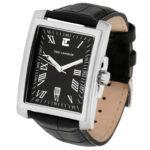 packshot montres - photos de montres acier cuir noir acier ted lapidus