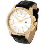 packshot montres - photos de montres acier cuir noir dorée ronde ted lapidus