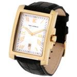 packshot montres - photos de montres acier cuir noir dorée ted lapidus