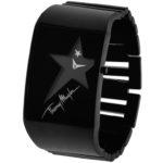 packshot montres - photos de montres noir acier thierry mugler