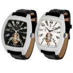 packshot montres - photos de montres uhr kraft duo noir et blanc cuir